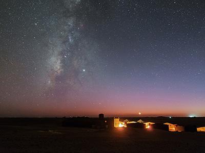 Les astres vus du désert marocain